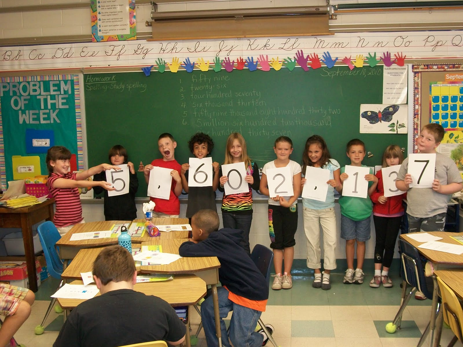 Mrs mcgills third grade large numbers in standard form this week they had fun changing numbers from expanded form to standard form also they learned about the importance of commas to separate the ones falaconquin