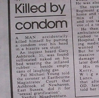 Killed by a Condom