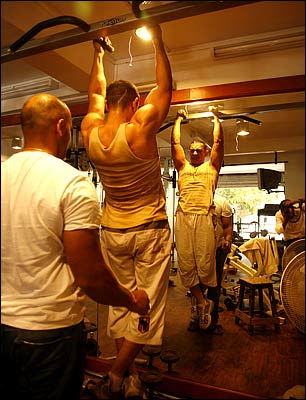 Aamir khan in gym