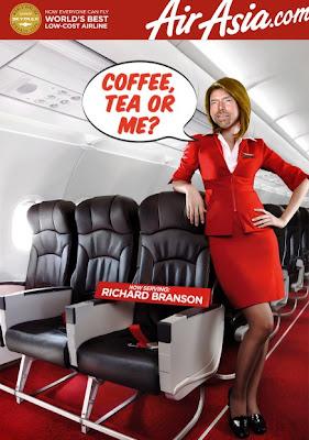 賭輸變身空姐 - 布蘭森賭輸變身空姐