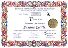 """Premio de Honor a la obra """"PUREZA""""  2010"""