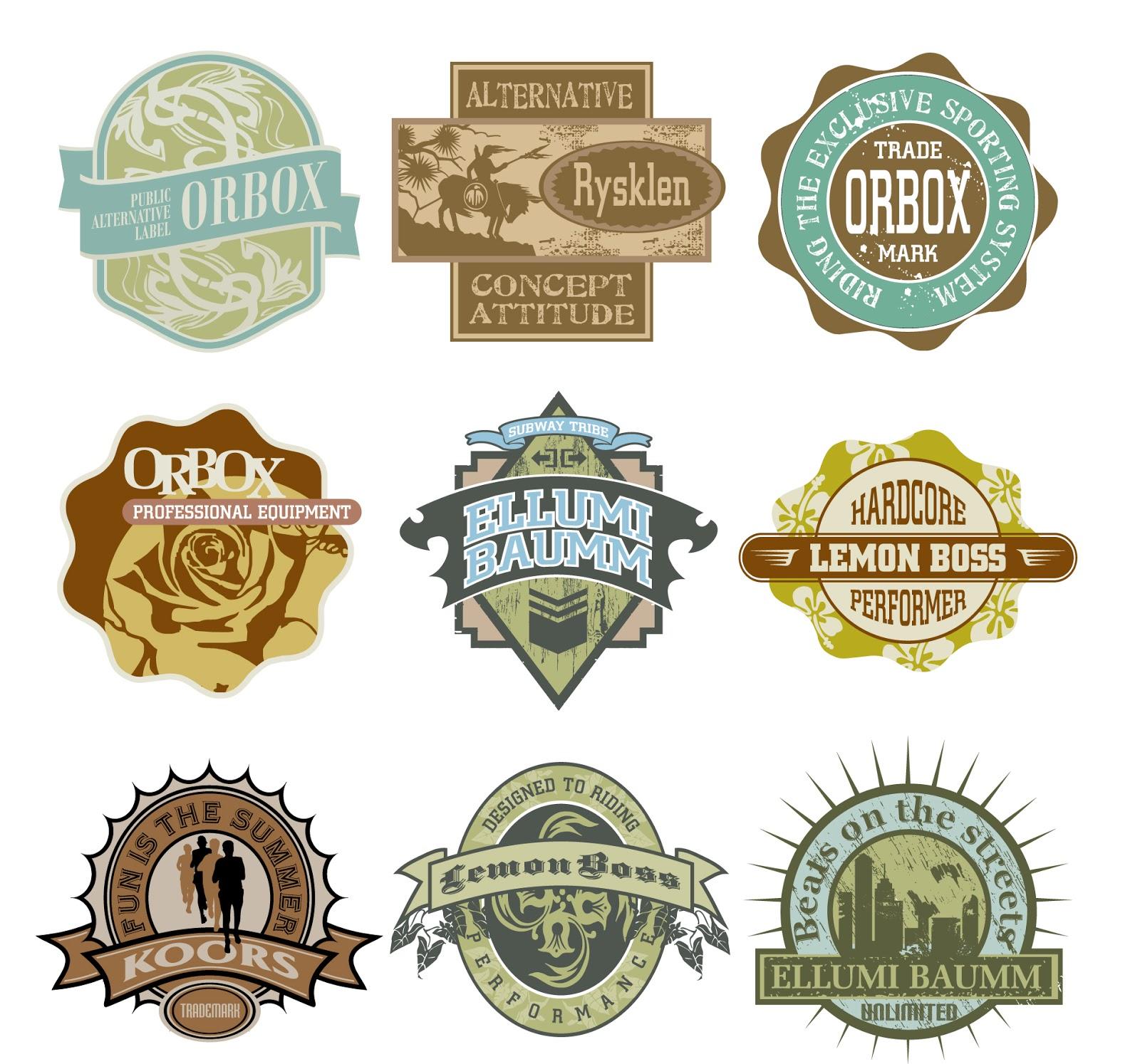 Grunge vintage labels and badges download free vector art
