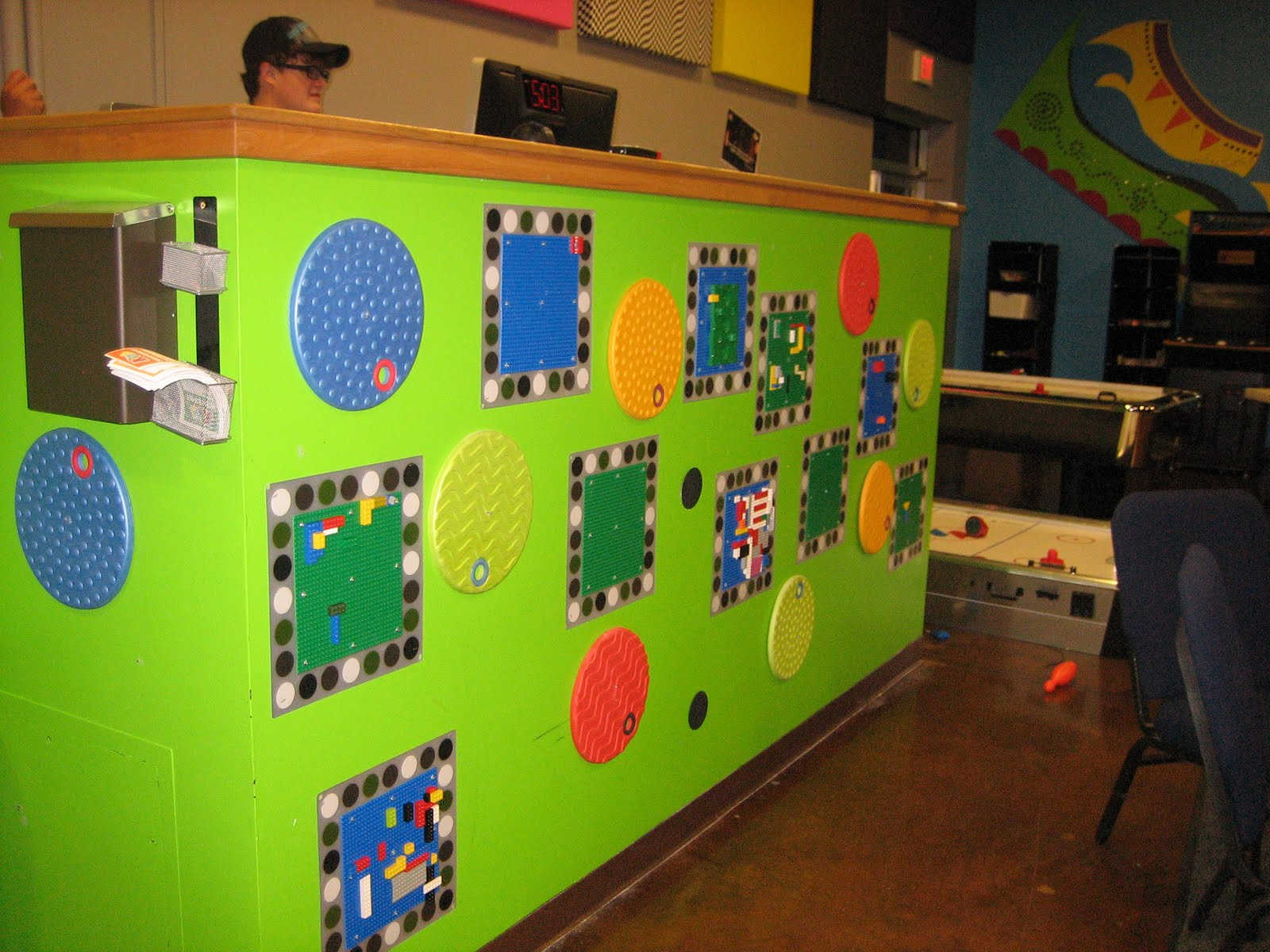 celebration kids kids church decor idea lego wall. Black Bedroom Furniture Sets. Home Design Ideas