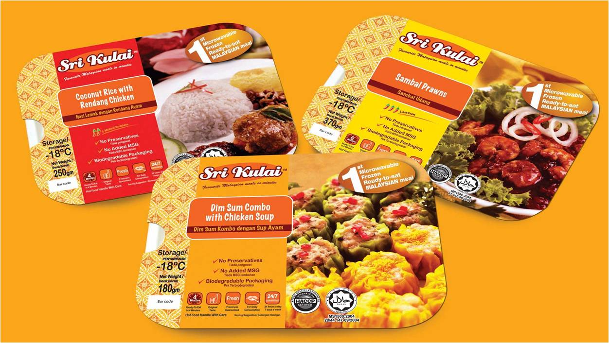 Sri Kulai, 1st microwavable halal frozen ready to eat Malaysian meals