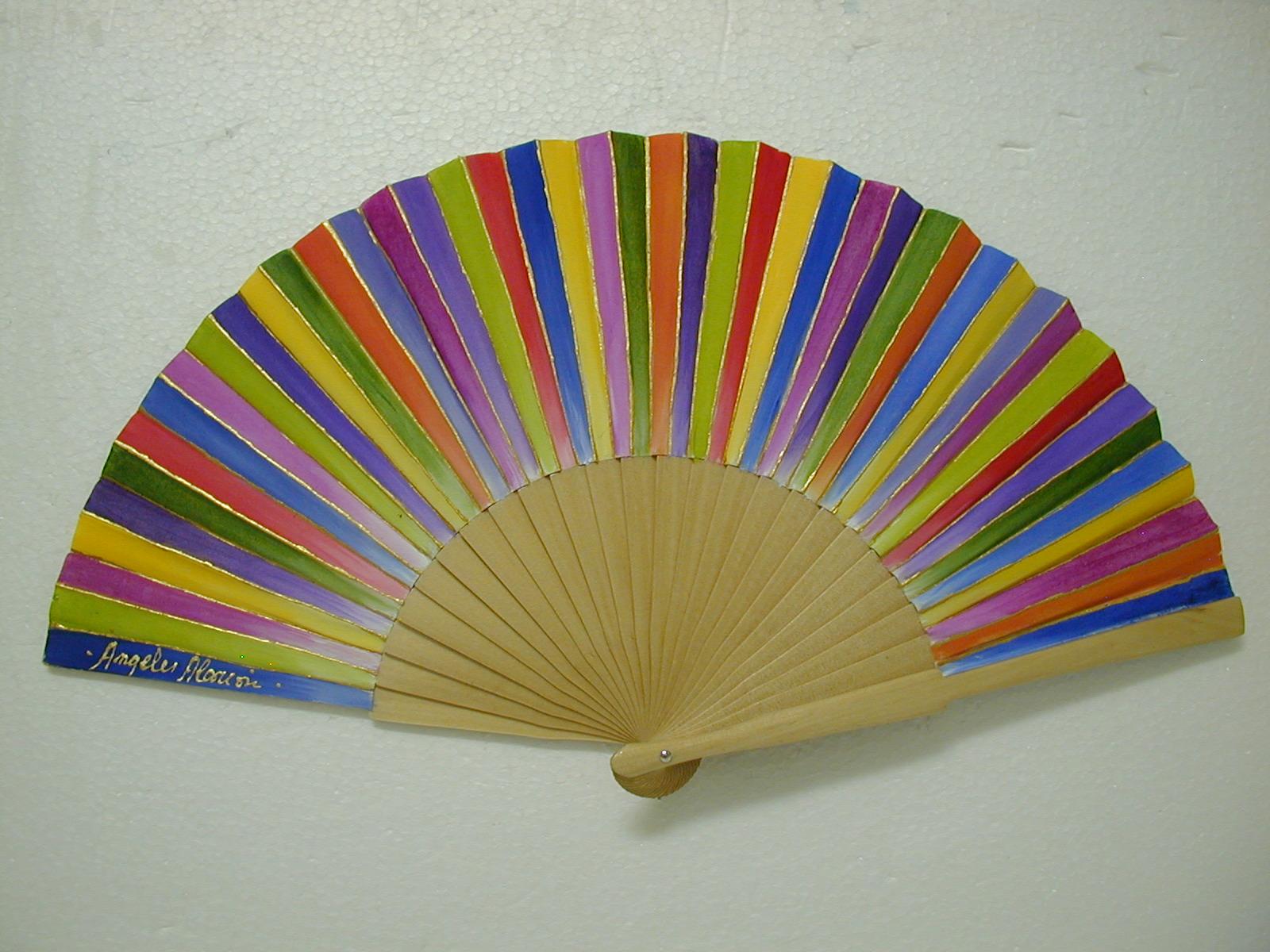 Mis cajas de madera abanico mil colores for Abanico de colores