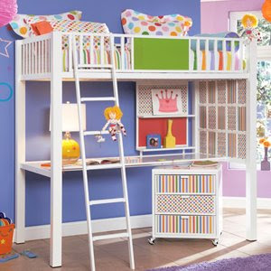 Funky Kids Stuff: Little Miss Matched SWITCHaROO twin size loft :  little miss stuff matched