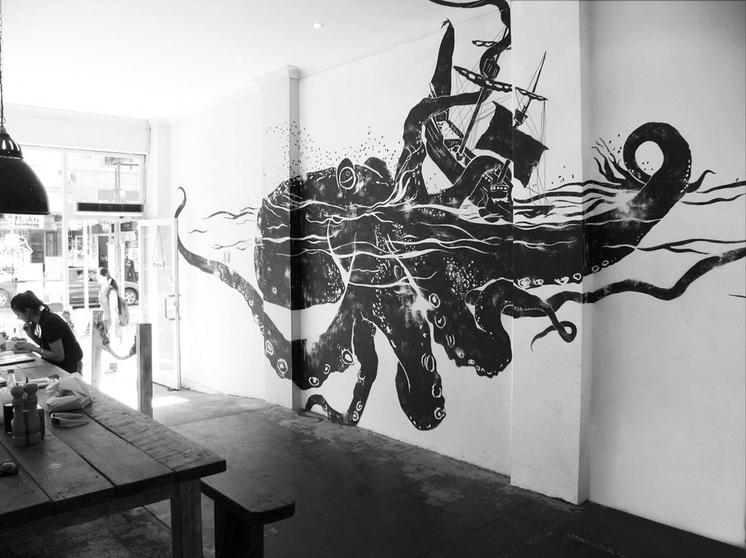 Foggyland a blog from subeternal design really cool for Cool wall mural