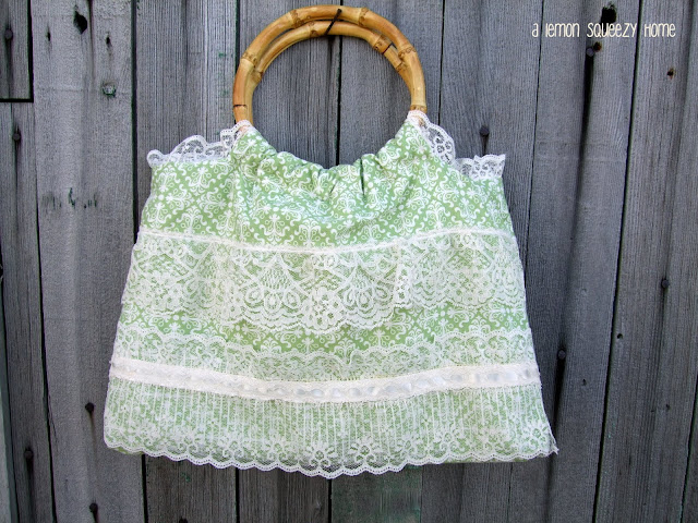 Lace purse sewing tutorial
