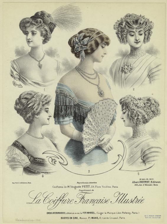 Hairstyles Victorian Era : found this next picture on the New York Public Library site (another ...
