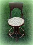 Pressed Cane - Drafting Chair