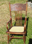 Childs Pressed Cane Rocker