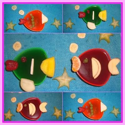 Gelatina em formato de peixe