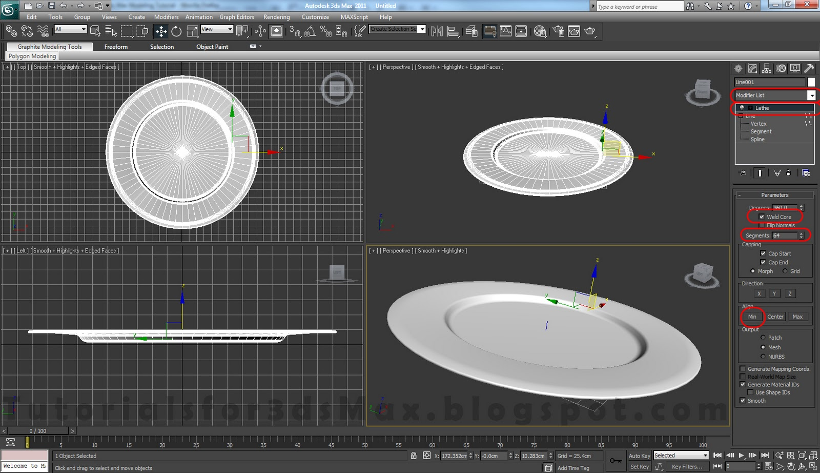 Plate 3ds max modeling tutorial tutorials for 3ds max Simple 3d modeling online
