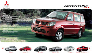 Mitsubishi Adventure GLX Specifications and Others