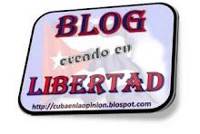 "Premio ""Blog creado en libertad"""