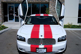 glorious car modified car charger white red stripes custom interior. Black Bedroom Furniture Sets. Home Design Ideas