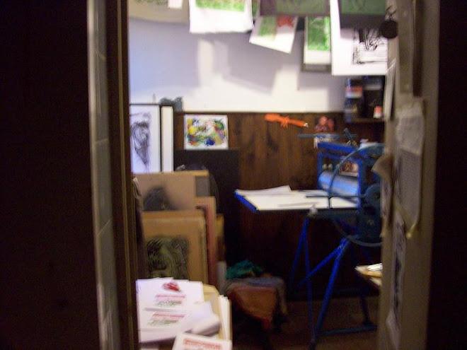 Foto del taller tomada desde el Baño Pintado