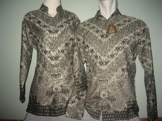 Contoh Design Baju Batik Pasangan 2010 Terbaru