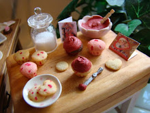 Valentines baking in miniature