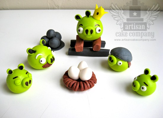 Design fetish angry bird cake toppers for Angry birds cake decoration