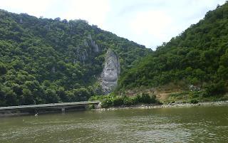 Danube River - Head of Decebal near Mraconia Bay - Romania
