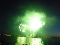 Vancouver's Celebration of Light 2010 - Second Night - Spain team - green sky