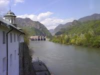 Olt River, view from Cozia Monastery building/ Raul Olt vazut din cladirea Manastirii Cozia - Romania