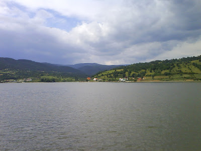 Danube River / Dunarea, near Orsova, Romania