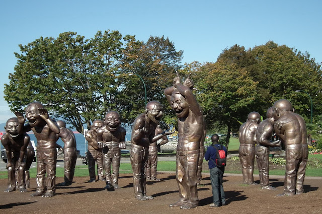 A-Maze-Ing Laughter, by Yue Minjun at Morton Triangle