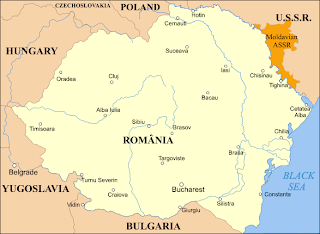 Romanian map at 1920