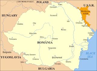 Romanian map at 1920