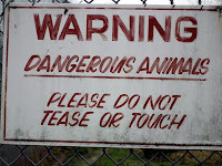 Greater Vancouver Zoo - warning sign