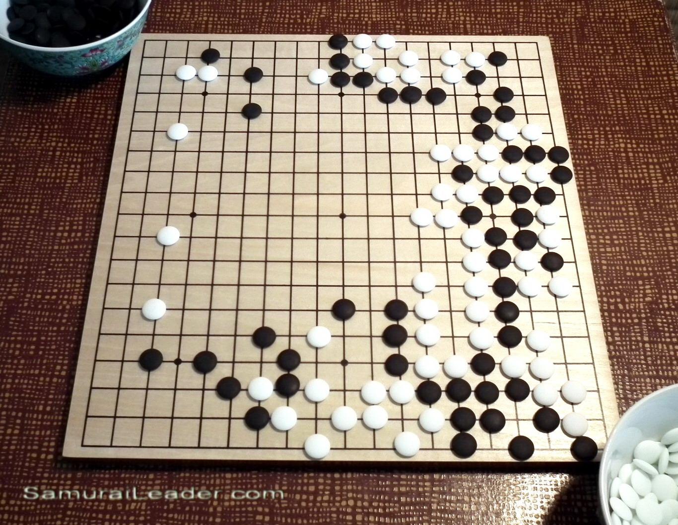 Go Weiqi Baduk Diagram Of A Famous Game Played In 1846 Between Shusaku And Gennan Inseki
