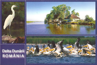 Danube Delta - postcard - Romanian Natural Site on the List of World Heritage Sites