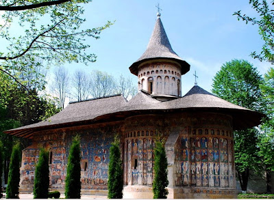 Voronet Monastery (postcard) - Cultural Site on the List of World Heritage Sites