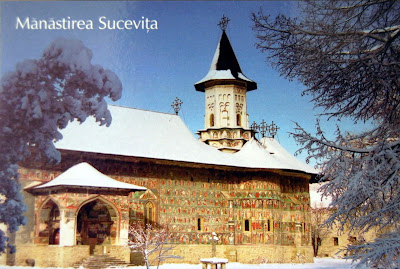 Sucevita Monastery (postcard) -Cultural Site on the List of World Heritage Sites