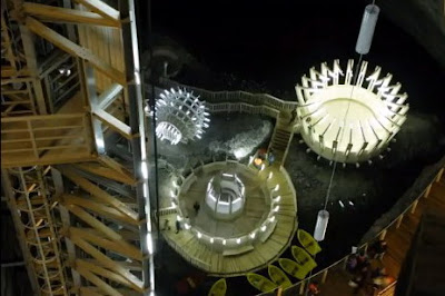 Turda Salt Mine - top view after restoration using European grants