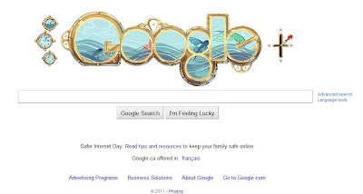 Google Doodle for Jules Verne celebration