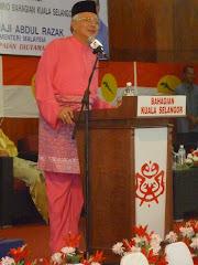 YAB Perdana Menteri, Datuk Seri Najib Tun Razak Sedang Memberikan Ucapan