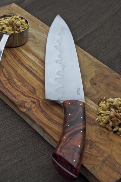 guinea hog forge 16 inch chef 39 s knife with ironwood handle. Black Bedroom Furniture Sets. Home Design Ideas