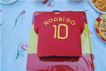 tarta de camiseta de la roja