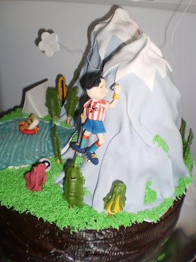 tarta con registrador del atlétic escalando montañas, ¡toma ya!