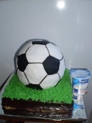 tarta de pelota de fútbol