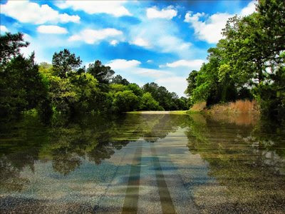art166 digital landscape river rural surreal road highway Texas
