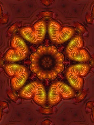 art166 amber chandelier digital art photo-manipulation