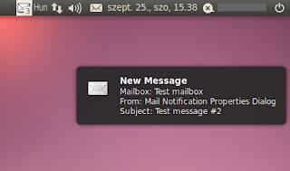 Email értesítés Ubuntu