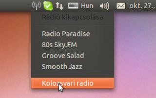Radio tray Ubuntu Linux 10.10