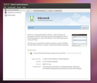 Date naptár Ubuntu