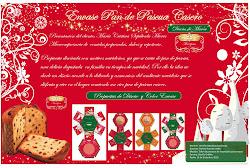 Envase para pan de pascua Casero