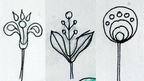 this is how i came up with my new flower design